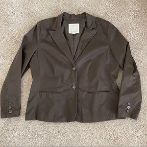 Old navy chocolate brown Blazer Jacket XXL